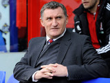 Middlesbrough manager Tony Mowbray before kick-off against Crystal Palace on February 16, 2013