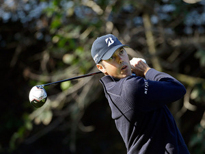 Matt Kuchar plays a shot during the Northern Trust Open on February 14, 2013