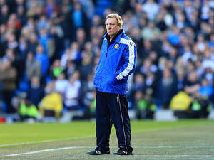 Leeds manager Neil Warnock on the touchline during the FA Cup 5th round against Manchester City on February 17, 2013