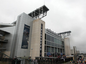 Fans enter the Reliant Stadium, home of the Houston Texans on January 5, 2013