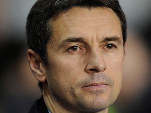 Lyon boss Remi Garde during the Europa League match against Lyon on February 14, 2013