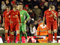 Liverpool players walk way dejected after Romelu Lukaku scores for West Brom on February 11, 2013