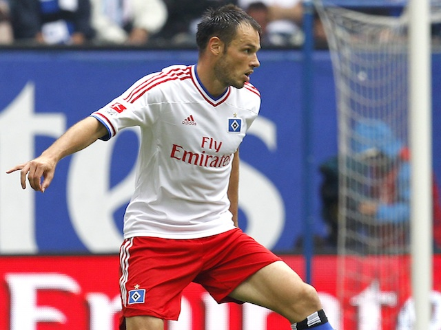 Hamburg's Heiko Westermann in action against FC Koln on August 27, 2011