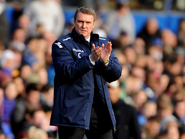 Birmingham City manager Lee Clark on the touchline during the match against Watford on February 16, 2013