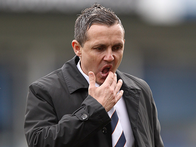 Luton boss Paul Buckle during the FA Cup 5th round match against Millwall on February 16, 2013
