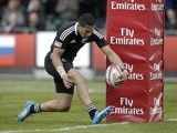 New Zealand's Ardie Savea scores a try against England on May 6, 2012