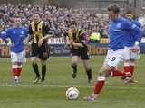 Rangers' Dean Shiels scores a goal against Berwick Rangers on February 23, 2013