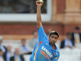 Ravichandran Ashwin bowls on September 11, 2011