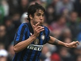Inter Milan forward Ricardo Alvarez in action against Man City on July 31, 2011
