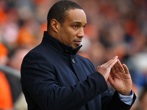 New Blackpool manager Paul Ince during his side's match against Leicester City on February 23, 2013
