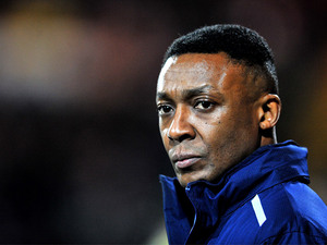 Notts County interim manager Chris Kiwomya during the match against Bury on February 22, 2013