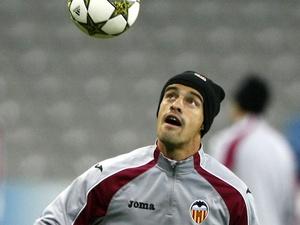 Valencia defender Ricardo Costa training on December 4, 2012