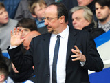 Chelsea interim manager Rafael Benitez gestures from the sideline during his side's match with West Brom on March 2, 2013