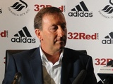 Swansea chairman Huw Jenkins at a press conference on June 21, 2012