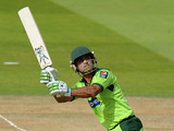 Mohammad Hafeez in action on September 20, 2010