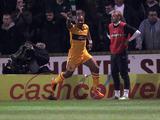 Motherwell's Chris Humphrey celebrates scoring against Celtic on February 27, 2013