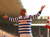 Queens Park Rangers's Loic Remy celebrates after scoring his side's first goal of the game against Southampton on March 2, 2013