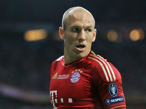 Bayern Munich's Arjen Robben during the Champions League Final on May 19, 2012
