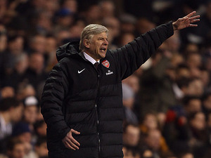 Arsenal boss Arsene Wenger on the touchline during the match against Spurs on March 3, 2013