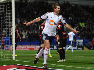 Craig Dawson celebrates scoring the opening goal against Peterborough on February 26, 2013