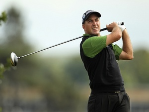 South African Darren Fichardt in action at The Open on July 15, 2010