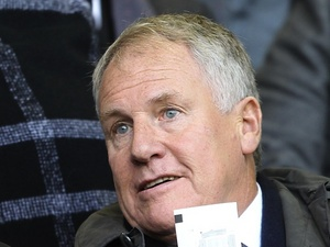 Former Everton boss Joe Royle watches a game from the stands on 29 October 2011