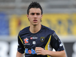Sebastien Corchia playing for Sochaux on October 30, 2011