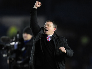 Nottingham Forest manager Billy Davies celebrates his side's victory over Sheffield Wednesday on March 2, 2013