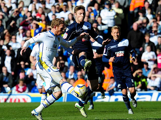 Leeds' Paul Green and Millwall's James Henry battle for the ball on March 2, 2013