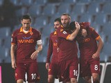Erik Lamela celebrates after scoring for Roma in their match with Udinese on March 9, 2013
