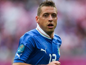 Italy's Emanuele Giaccherini in action during Euro 2012 on June 14, 2012