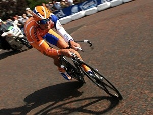 Netherlands cyclist Michael Boogerd racing on July 7, 2007