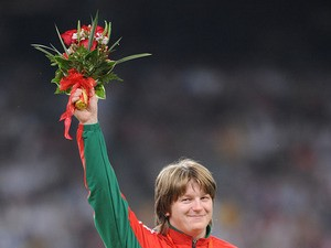 Nadzeya Ostapchuk from Belarus during the 2008 Olympic Games in Beijing on August 17, 2008