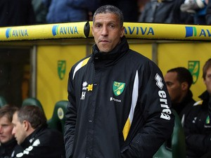 Norwich City manager Chris Hughton prior to his side's match against Southampton on March 9, 2013