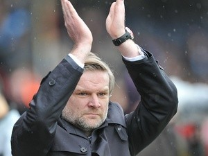 New Coventry boss Steven Pressley on the touchline before his first game against Scunthorpe on March 9, 2013