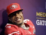 San Francisco 49ers safety Dashon Goldson during media day for the NFL Super Bowl XLVII on January 29, 2013
