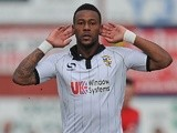Port Vale's Jennison Myrie-Williams celebrates a goal against York City on March 16, 2013