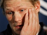 Josh Lewsey during a press conference on October 15, 2007