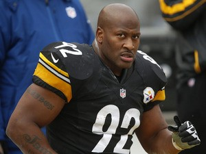 Pittsburgh Steelers outside linebacker James Harrison during his side's match with the Cleveland Browns on December 30, 2012