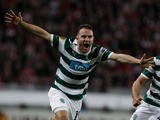 Sporting's Diego Capel celebrates scoring against Athletic Bilbao on April 19, 2012