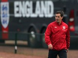 England coach Gary Neville before a training session on October 11, 2012