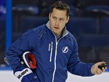 Tampa Bay Lightening head coach Guy Boucher watches his team during training on January 18, 2013