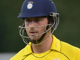 Hampshire's James Vince moments after being bowled out on August 25, 2012