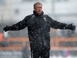 Cheltenham manager Mark Yates on the touchline during the match against Barnet on March 23, 2013