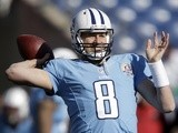 Titans QB Matt Hasselbeck in action against the Jaguars on December 30, 2012