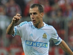 Marseille's Benoit Cheyrou in action against Bayern Munich on April 3, 2012