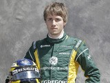 Caterham driver Charles Pic poses for a photo on March 14, 2013
