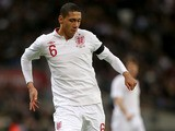 England's Chris Smalling during a International Friendly with Brazil on February 6, 2013