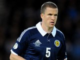 Scotland's Gary Caldwell during the World Cup qualifying match with Macedonia on September 11, 2012
