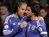 Israel's Lior Refaelov celebrates after a goal versus Northern Ireland on March 26, 2013